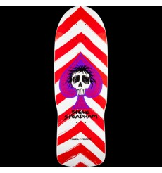 Powell Peralta - Steadham Skull and Spade Skateboard Deck red/wht - 10 x 30.125