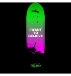 Powell Peralta - Funshape Believe 3 Skateboard Deck Green/Purple - 8.6 x 31.84