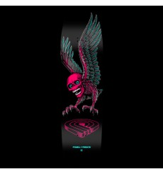 Powell Peralta - Funshape Winged Skull 3 Skateboard Deck Pink/Blue - 8.75 x 31.75