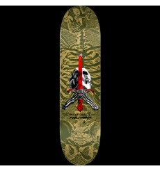 Powell Peralta - Skull and Sword Skateboard Deck Olive - Shape 248 - 8.25 x 31.95